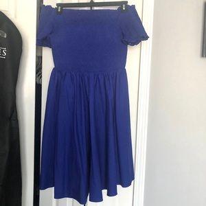 City Chic Royal Blue Strapless Dress